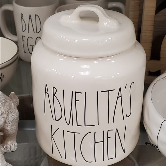 Rae Dunn By Magenta Abuelitas Kitchen Ceramic Ll Canister Limited Edition Spanish Collection Storage Organization Kitchen Dining
